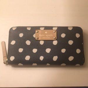 Kate spade polka dot zip wallet